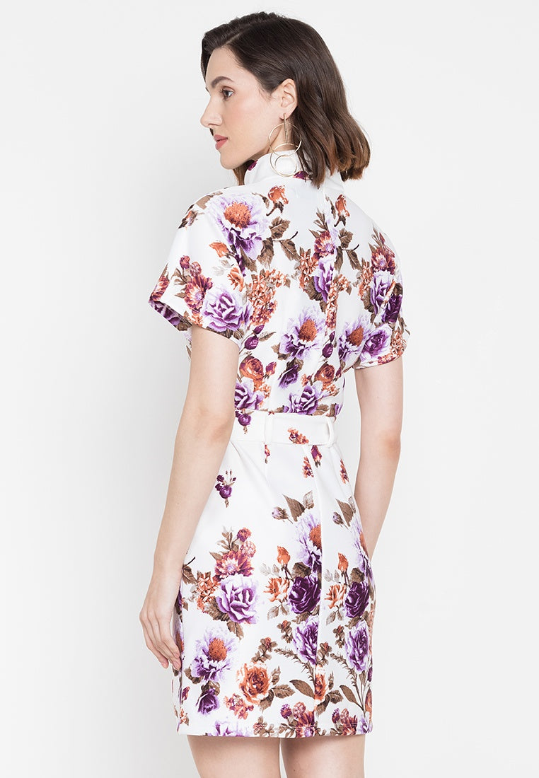 Bea Short Sleeve Work Dress with Pockets