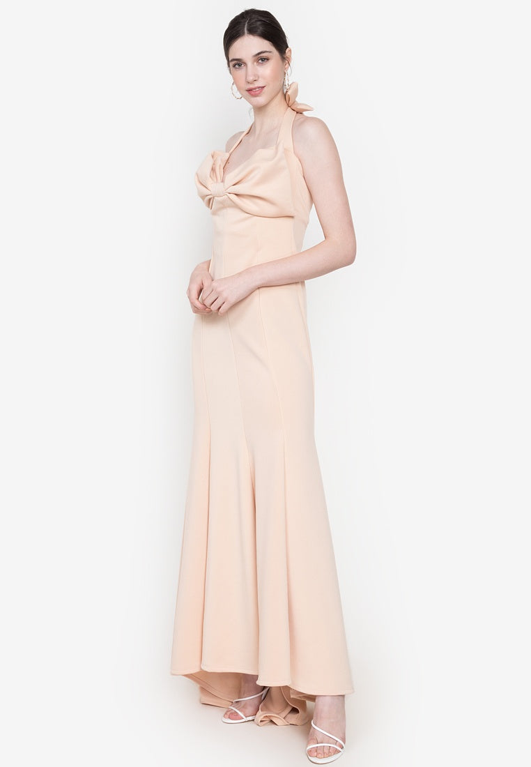 Grayson Bow Halter Formal Evening Gown