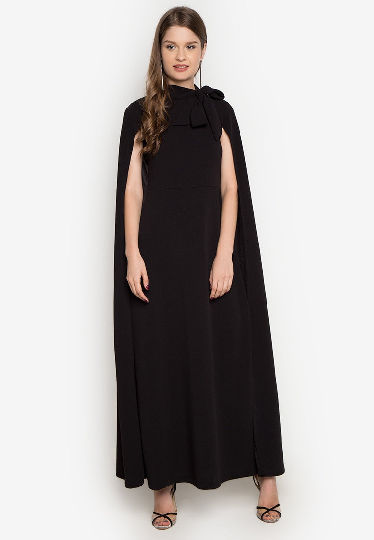 Sasha Cape Gown In Black