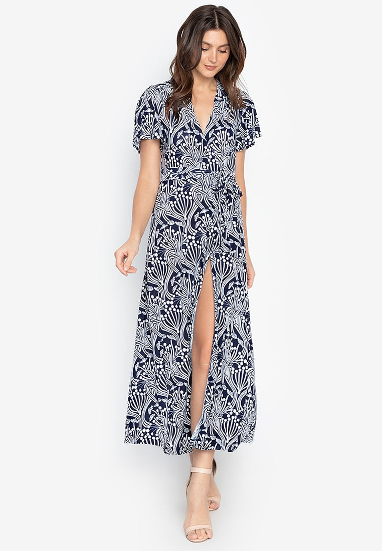 Sunny V-neck Wrap Maxi Dress