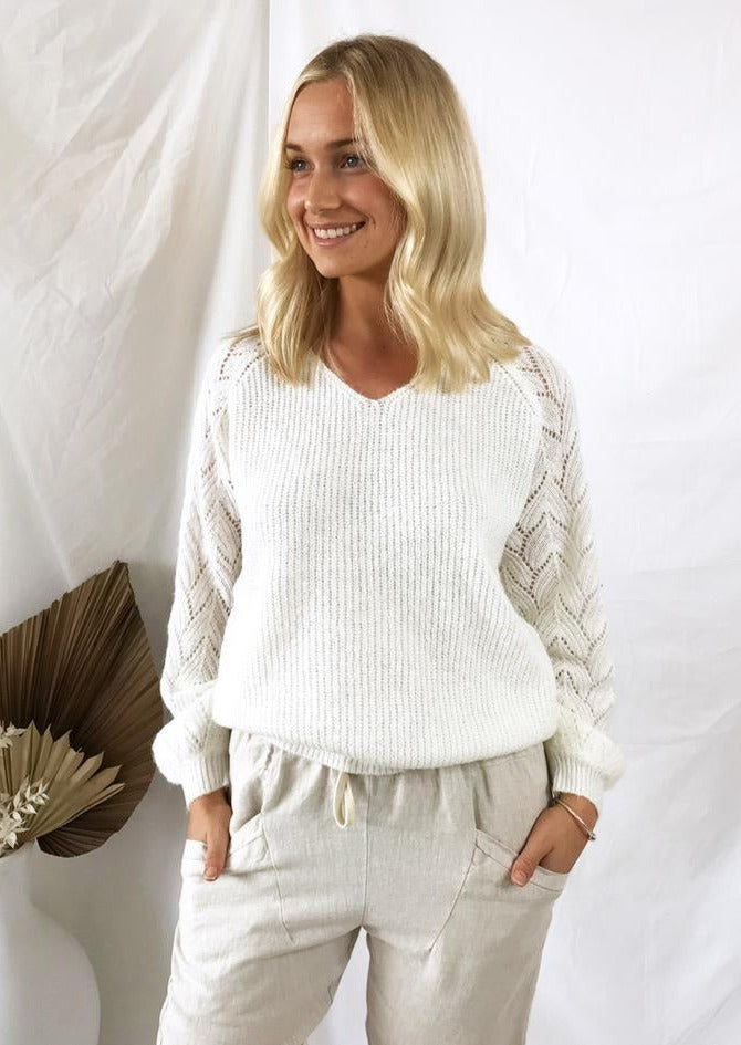 Francesca Knit - White