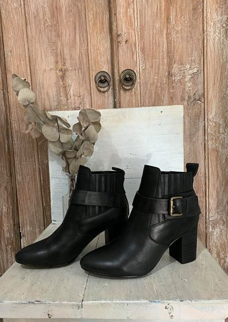 Misha Boot - Black Leather