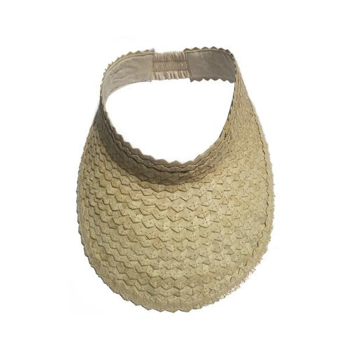 Woven Sun Visor - Light Tan