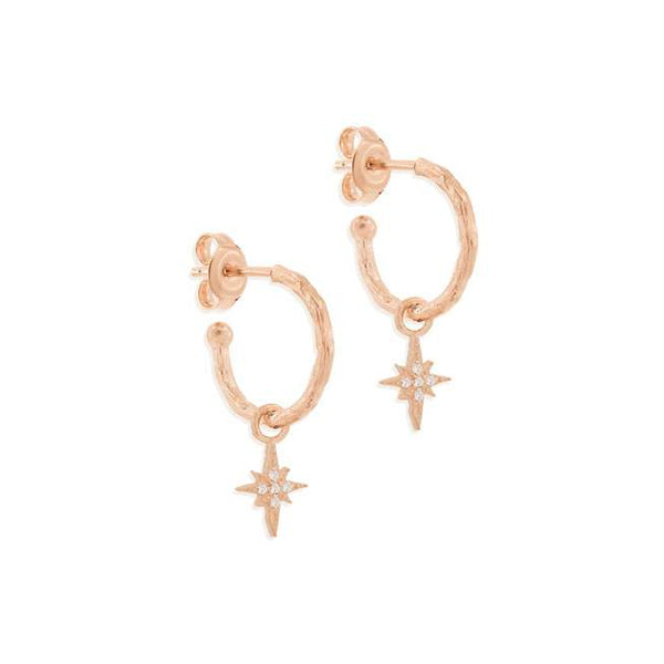 Rose Gold Starlight Hoops
