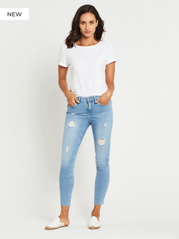 Tess High Rise Super Skinny - Light Ripped Vintage
