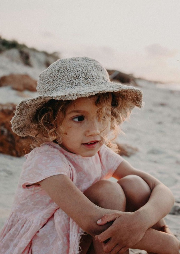 Kids Polly Hemp Hat - Natural