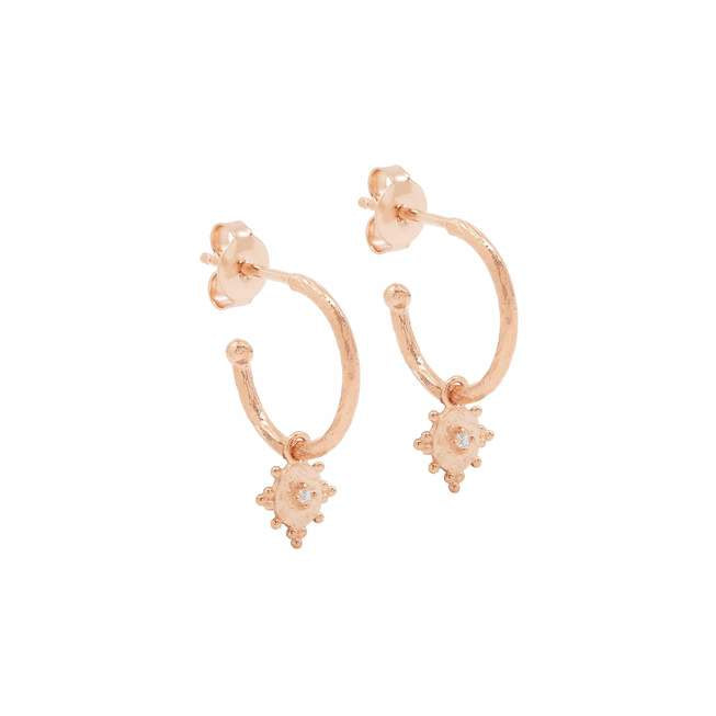 Rose Gold Be Present Hoops