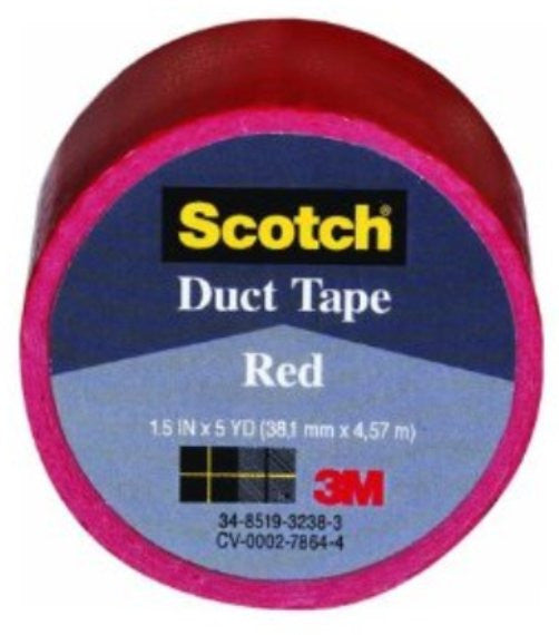 Scotch 38.1mm x 4.57m Duct Tape Red