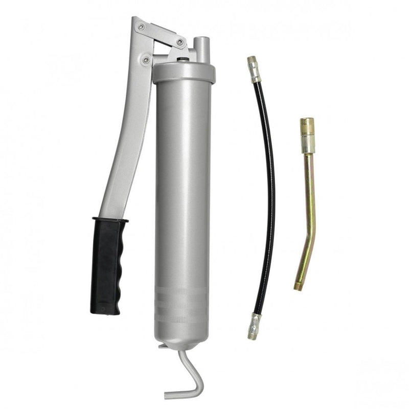 "Pressol 500cc Lever Action Grease Gun with 12"" Flexible Hose, 6"" Solid Hose and"