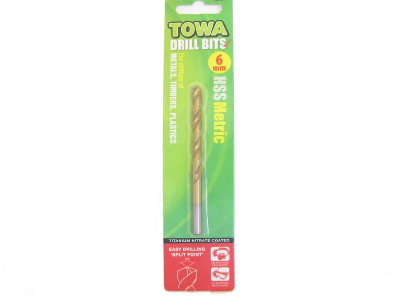 Towa HSS Twist Drill Bit 6mm