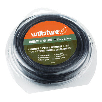 Wiltshire Black Trimmer Line 3.0mm x 25m