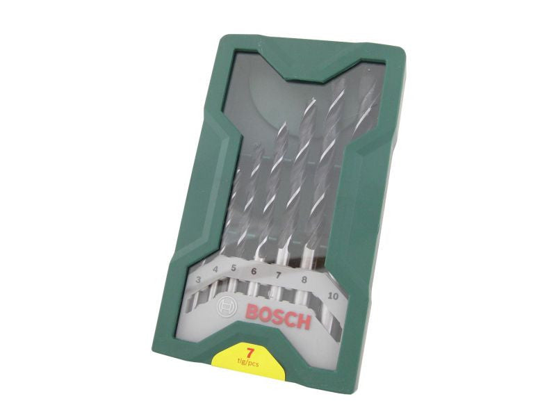 Bosch 7 Piece Wood Drill Bit Set