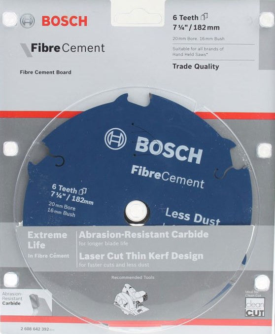 Bosch Fibre Cement Circular Saw Blade 182mm (7-1/4 Inch) 6 Teeth
