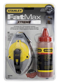 Stanley FatMax Xtreme Red 30m Chalk Line Set (47-483)