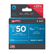 Arrow T50 Staples 8mm (5/16 Inch) #505 Box of 1250
