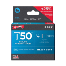 Arrow T50 Staples 10mm (3/8 Inch) #506 Box of 1250