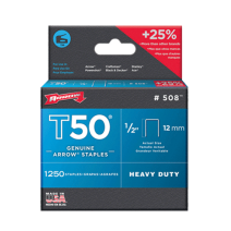 Arrow T50 Staples 12mm (1/2 Inch) #508 Box of 1250
