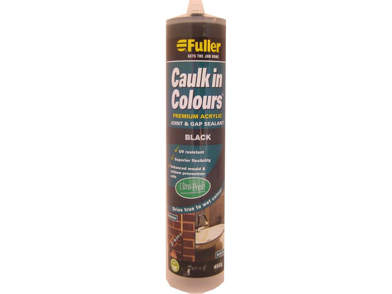 Fuller Black Caulk in Colours Sealant 450g