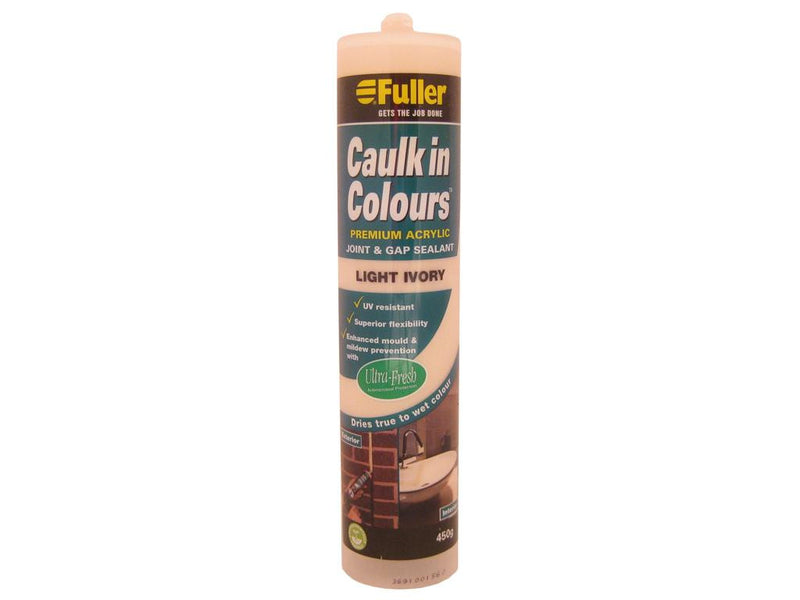 Fuller Light Ivory Caulk in Colours Sealant 450g