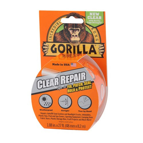 Gorilla 48mm Clear Repair Tape 8m