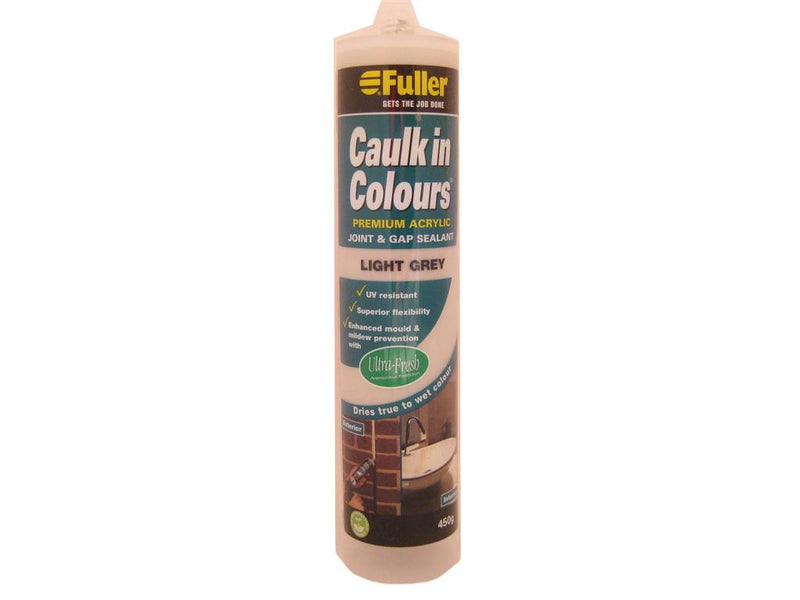 Fuller Light Grey Caulk in Colours Sealant 450g
