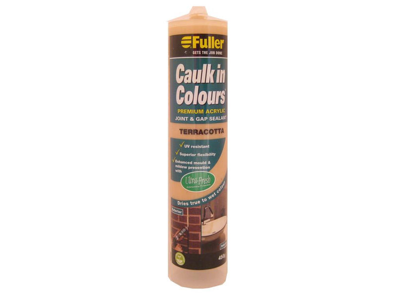 Fuller Terracotta Caulk in Colours Sealant 450g