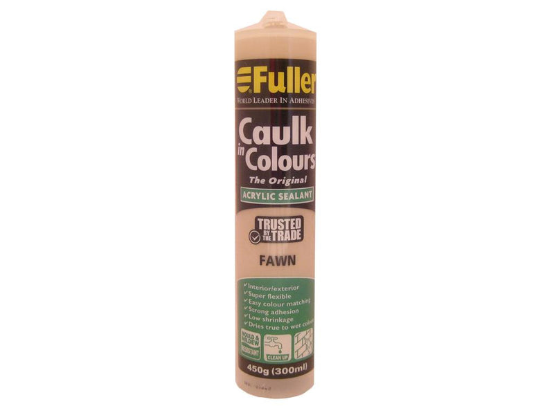 Fuller Fawn Caulk in Colours Sealant 450g