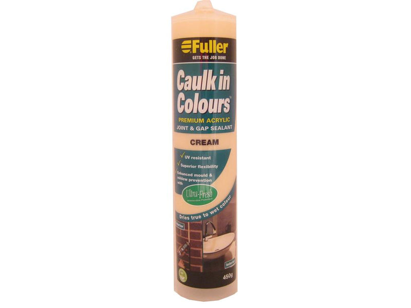 Fuller Cream Caulk in Colours Sealant 450g