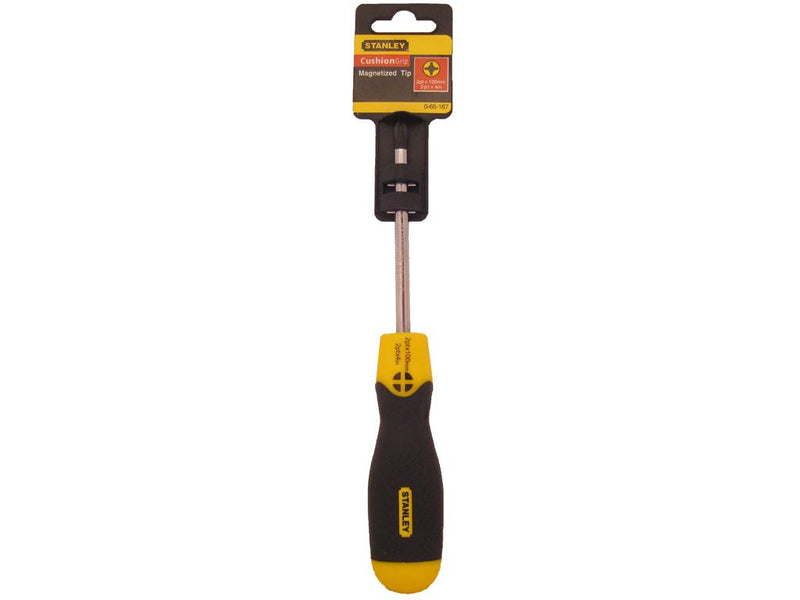Stanley Cushion Grip Screwdriver 100mm Phillips #2