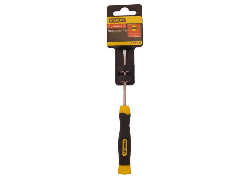 Stanley Cushion Grip 3mm x 75mm Flat Screwdriver