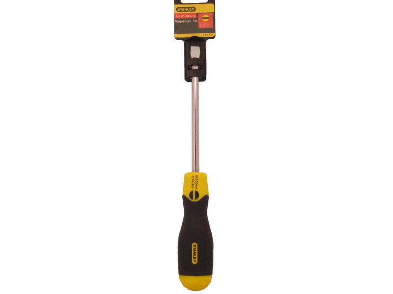 Stanley Cushion Grip 8mm x 150mm Flat Screwdriver