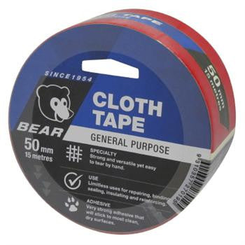 Norton Cloth Tape 15m x 50mm Red