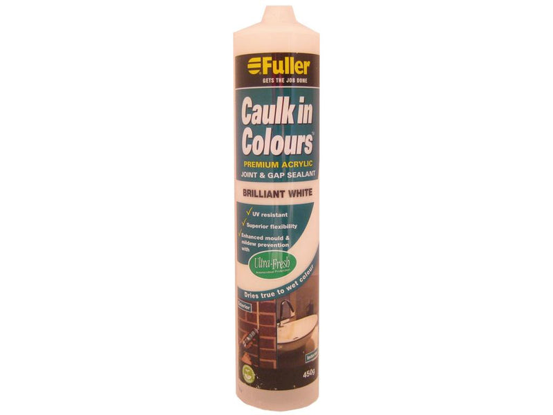 Fuller Bright White Caulk in Colours Sealant 450g