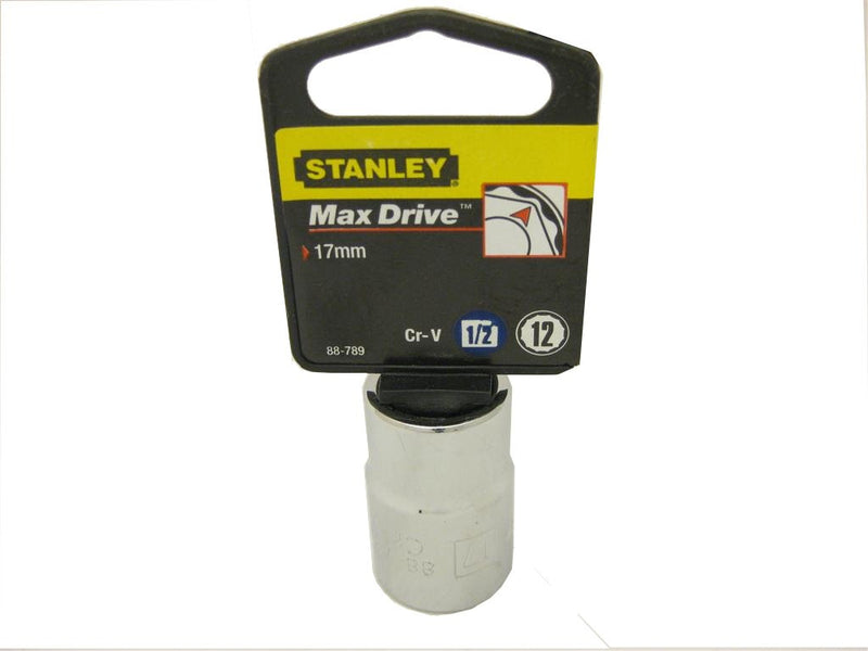 Stanley 17mm Metric Socket - 1/2 Inch Drive