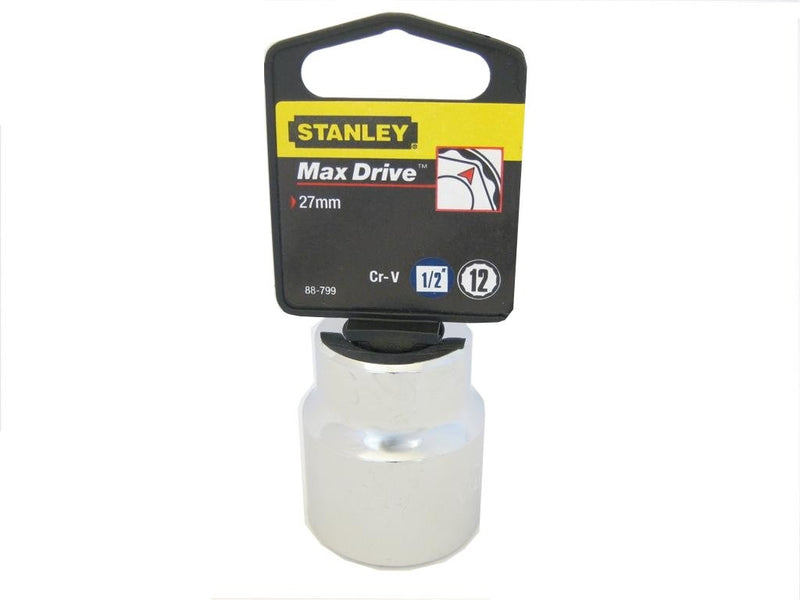 Stanley 27mm Metric Socket - 1/2 Inch Drive