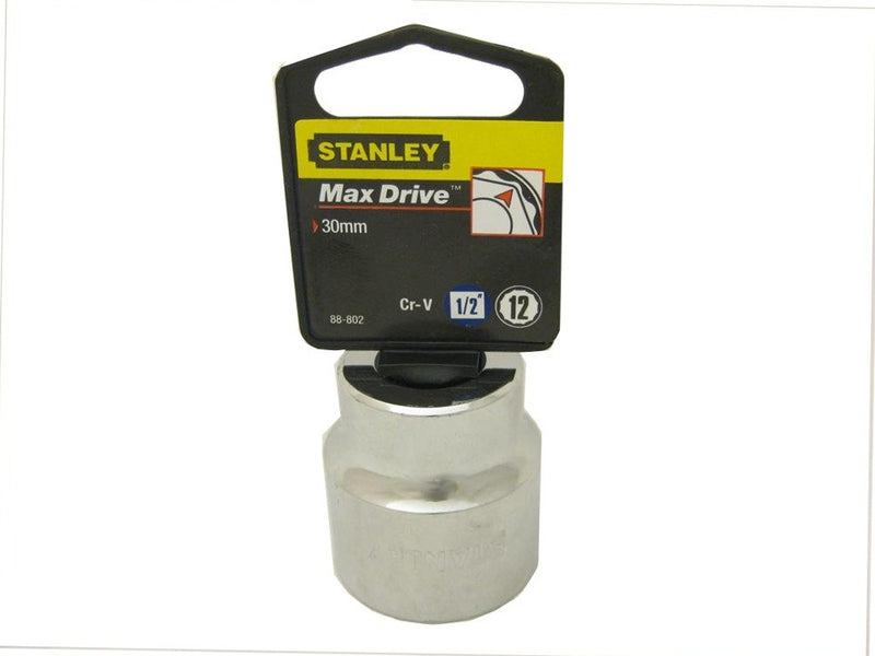 Stanley 30mm Metric Socket - 1/2 Inch Drive