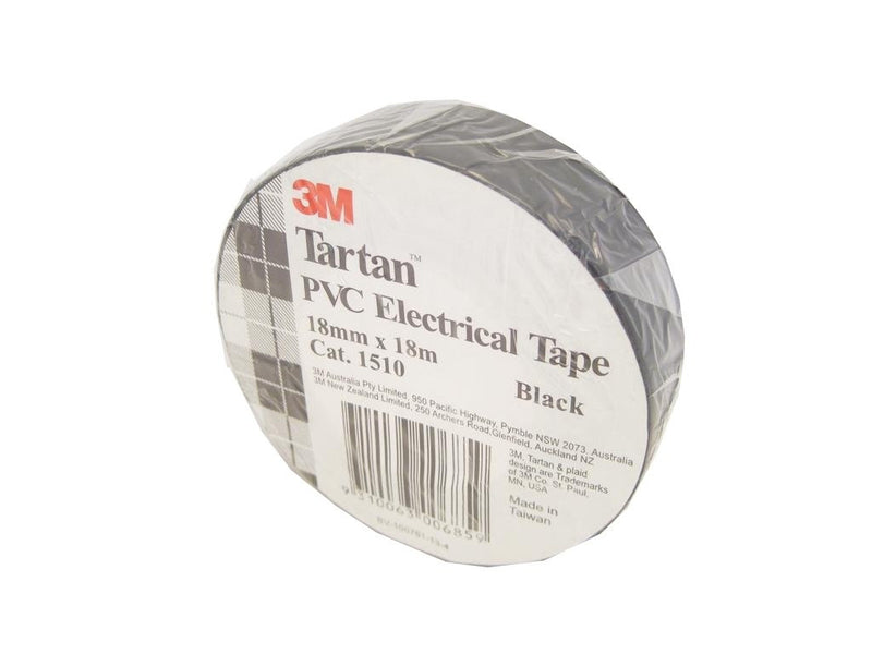 3M Black Electrical Tape 18mm x 18m