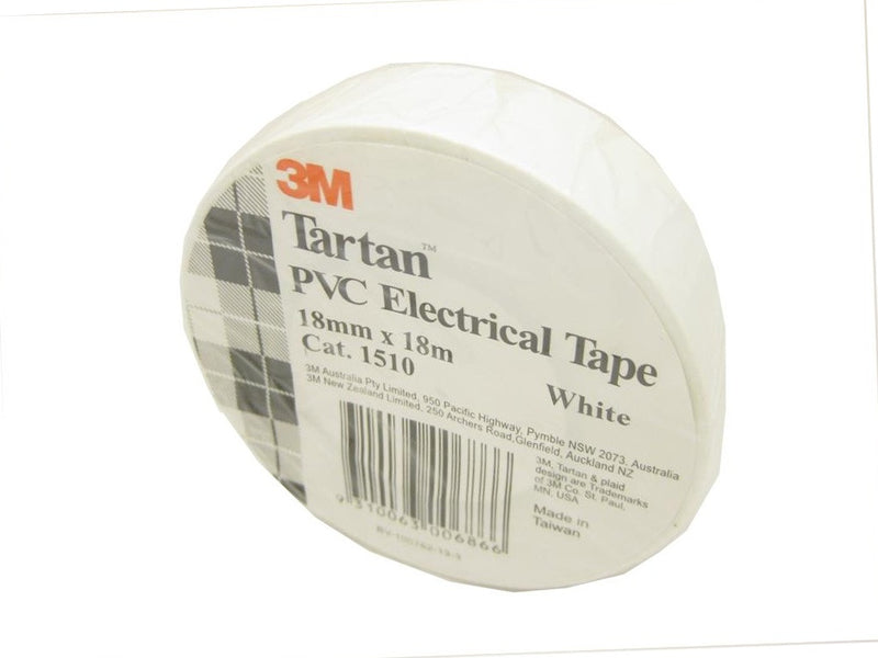 3M White Electrical Tape 18mm x 18m