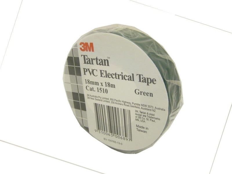 3M Green Electrical Tape 18mm x 18m