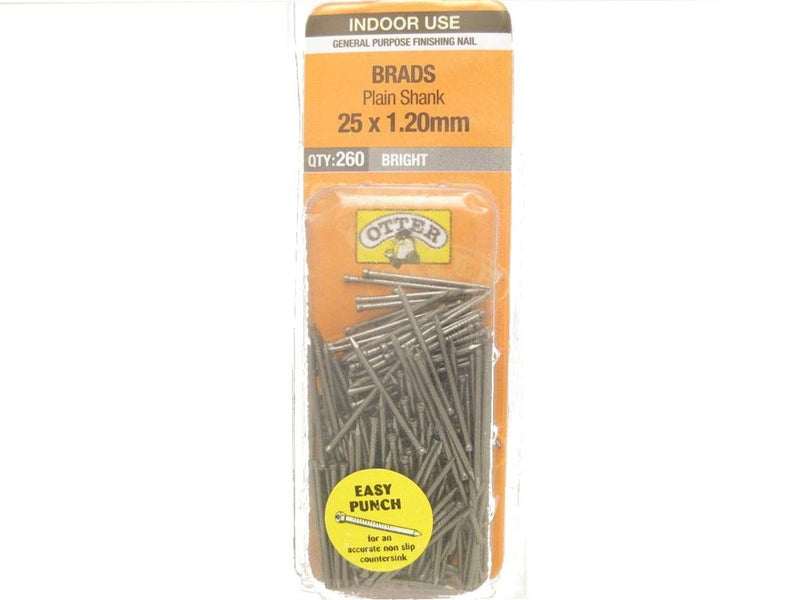 Nail B/H Bright 25mm x 1.2mm Pack of 260