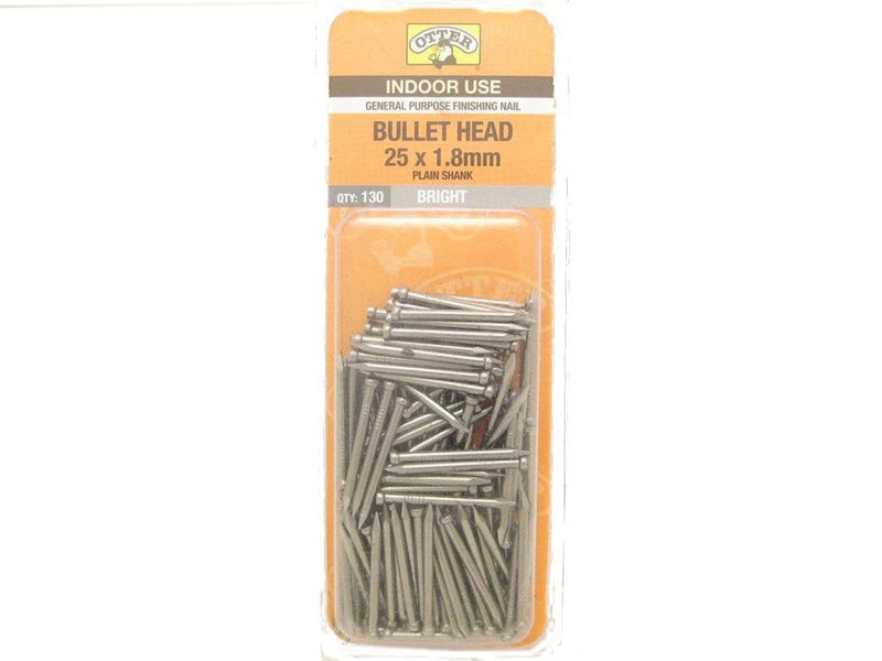 Nail B/H Bright 25mm x 1.8mm Pack of 130