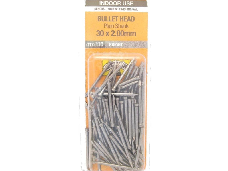 Nail B/H Bright 30mm x 2.0mm Pack of 110