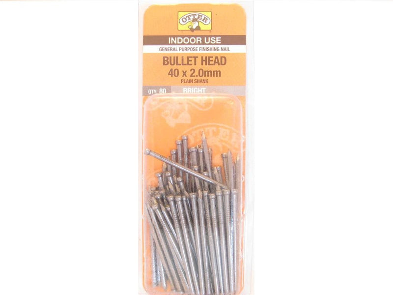 Nail B/H Bright 40mm x 2.0mm Pack of 80