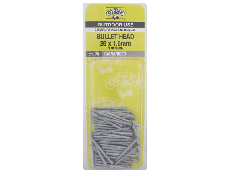 Nail B/H Galv 25mm x 1.6mm Pack of 70
