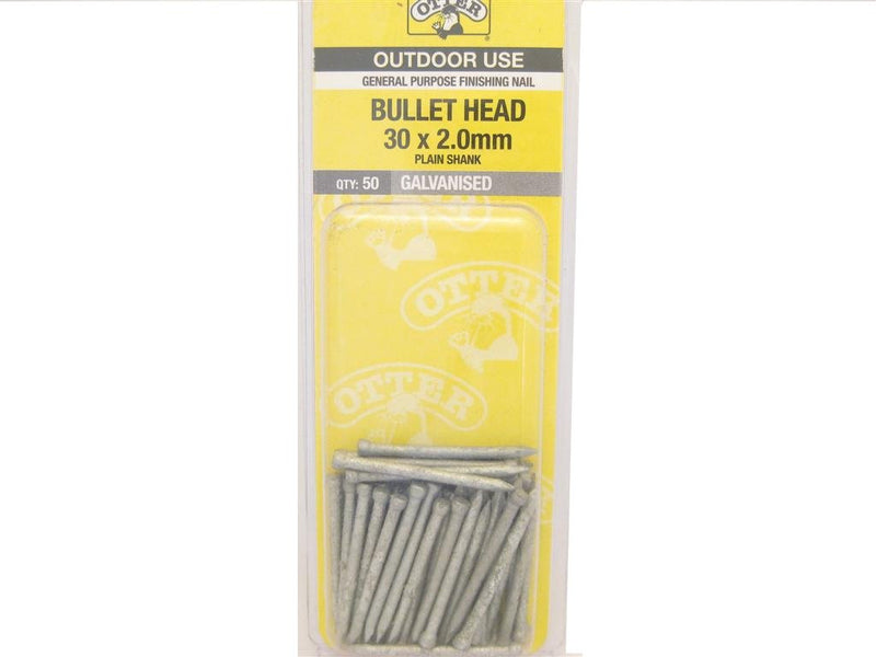 Nail B/H Galv 30mm x 2.0mm Pack of 50