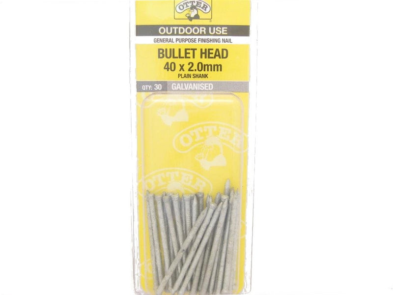 Nail B/H Galv 40mm x 2.0mm Pack of 30