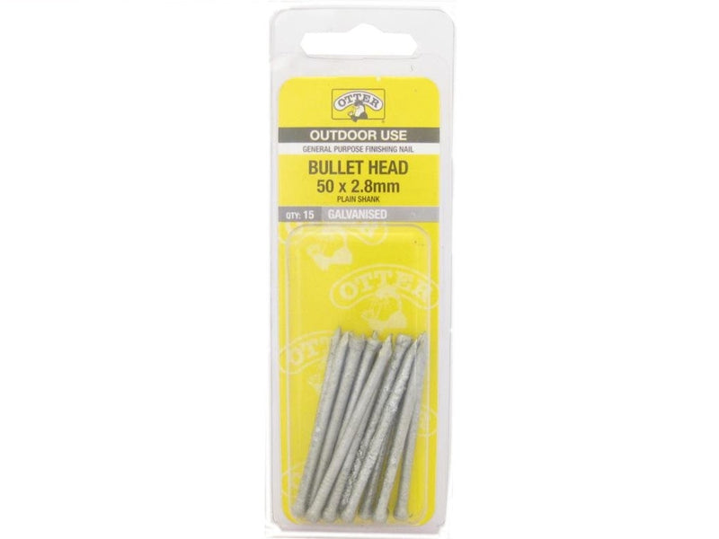 Nail B/H Galv 50mm x 2.8mm Pack of 15