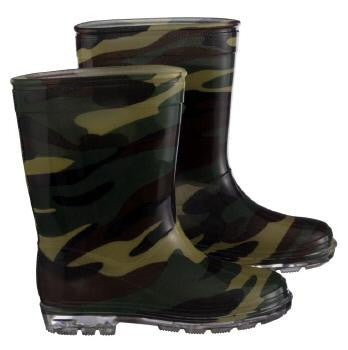 Boys Camouflage Gumboots Size 9