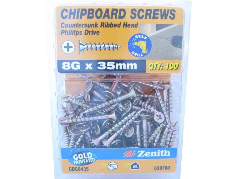 Chipboard Screws 8G x 35mm GP CS Pack of 100