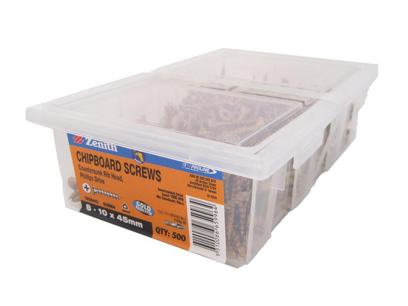 Chipboard Screws 8 - 10 x 45mm GP CS Box of 500